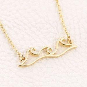 Jewelry - OCEAN WAVE Gold Pendant